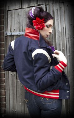 Ladies Baseballjacke by Rockabilly-Rules | Rockabilly - 50s Style