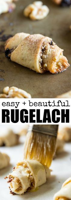 10 Most Misleading Foods That We Imagined Were Being Nutritious! An Easy Rugelach Recipe With Cream Cheese In The Dough And A Filling Of Apricots, Raisins, And Walnuts. Youll Love These Crispy Little Cookies Baking Recipes, Cookie Recipes, Dessert Recipes, Brownie Recipes, Holiday Baking, Christmas Baking, Christmas Cookies, Crack Crackers, Gourmet