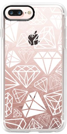Casetify iPhone 7 Plus Case and iPhone 7 Cases. Other Diamond iPhone Covers - White Transparent Diamond by Coral Antler Creative | Casetify