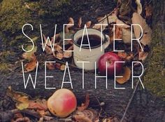 Crisp Autumn day picking apples and drinking coffee. Must be sweater weather!