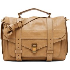 Proenza Schouler PS1 Large Leather in Bronze ($1,995) ❤ liked on Polyvore