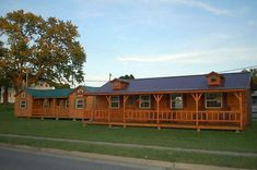 14 x 40 Amish built prefab cabin under $17K.
