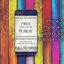Tardis Police Telephone iPhone 4 / 4S case iPhone 5 case Samsung Galaxy S2 case Samsung Galaxy S3 / S4 case