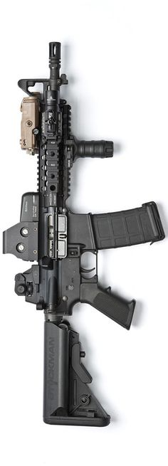MK18 inspired build with a Centurion Arms rail and upper, Eotech 553, PEQ15, SureFire X400, and Magpul PMAG. By Stickman.