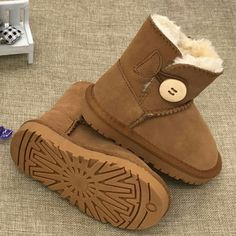 Buy 2018 Children Shoes Kids Snow Boots Brand Winter Plush Baby Girls Snow  Boot Warm Shoes Genuine Leather Toddler Boy Boot With Fur 37bc41f4ea8