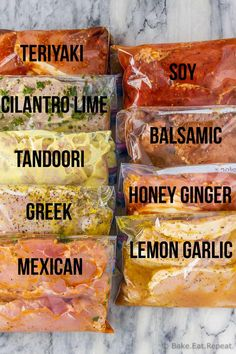 9 pork chop marinades are easy to mix up and add so much flavour to your pork chops. Marinate and then grill, pan fry, or bake, or freeze for later! Curry Marinade, Pork Marinade, Pork Ribs Brine Recipe, Pork Tenderloin Marinade, Marinate Meat, Grilled Pork Chops, Grilled Meat, Brining Pork Chops, Pan Fried Pork Chops