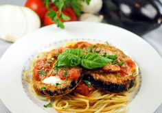 My version of Eggplant Parmesan  I really like Eggplant Parmesan, but I don't like the soggy messes that most restaurants serve, so I came ...