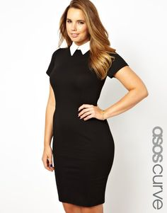 If, like me, you're a curvy girl this dress might interest you! It features a contrast collar and is a good alternative for ladies who are US sizes 18-28 looking to repliKate.