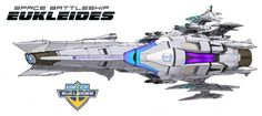 EDF Experimental Space Battleship Eukleides (Space Battleship Yamato- Starblazers universe)
