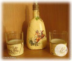 Itens de decoração Decoupage cracelures Garrafas e frascos de vidro define Guardanapos foto 3