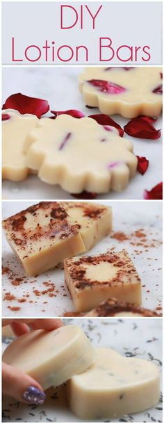 Lavender recipe: -1 cup coconut oil -1 1/2 cups beeswax -A few drops lavender oil (to preference) Melt down all ingredients on medium heat, and add optional lavender buds. Place into molds and refrigerate for 10 minutes.