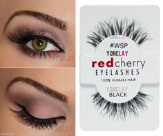 Red Cherry #WSP Order at http://www.ebay.com/itm/Lot-3-Pairs-RED-CHERRY-WSP-Wispies-False-Eyelashes-Human-Hair-Fake-Wispy-Lash-/251511745596?pt=US_Makeup_Eyeshash=item3a8f44ac3c Model and MakeUp: #Krimzinart #redcherry #fauxlashes #falseeyelashes #mua #yonelay #fakelashes