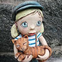 Prodané zboží   Fler.cz Aboriginal Art For Kids, Pottery Sculpture, Art Kids, Ceramic Art, Teddy Bear, Clay, Animals, Cement, Art