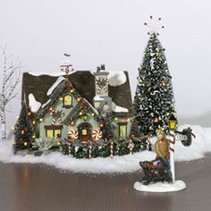 """Department Products - """"The Peppermint House"""" - View Lighted Buildings 2004 Christmas In The City, Christmas Town, Christmas Villages, Christmas Minis, Country Christmas, Christmas Wishes, All Things Christmas, Christmas Holidays, Xmas"""