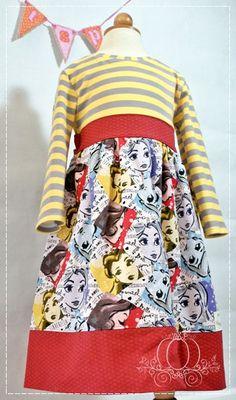 Princess Dress Knit Dress Rapunzel Dress Snow by TheSassyPumpkin
