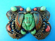 Art-deco-Neiger-Egyptian-revival-Czech-brooch