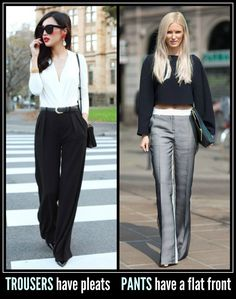 Proper fitting pants and trousers
