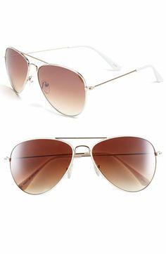 f52d9946b94f Icon Eyewear 'Helen' Aviator Sunglasses (Juniors) Rose Gold Aviators, Only  Clothing