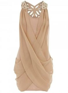 Chiffon is always gorgeous - this would be very flattering for neckline and shoulders