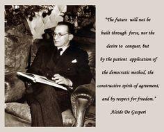 Alcide De Gasperi inspirational quote
