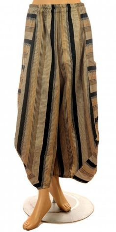 "Champagne Stripe ""No Ordinary"" Balloon Trouser"