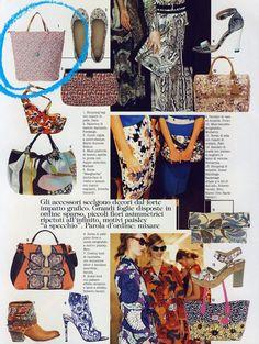 Gabsin nahkakahvainen ostoslaukku pääsi Italian Voguen toukokuun numeroon!