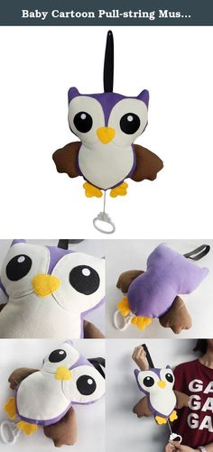 Baby Cartoon Pull-string Musical Box Creative Toys [Muzzy Owl]. Ships from Hong Kong. This handmade Baby Pull-string Musical Box can train the ability of the baby's hand to grasp. By pulling the handle down the music is started, your little one can also do this themselves if they are old enough. You can put them on the bed or stroller, your baby will love it, simply hang on the cot, pram or car to entertain your little one. Music box design, with just a pull, there is no electricity, can...