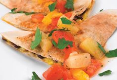 Recipe for: Brunch Quesadillas with Fruit Salsa