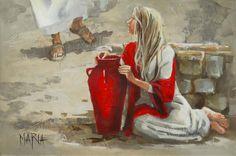 🎨 Art Gallery.MARIA M. OOSTHUIZEN 🎨 Lds Art, Bible Art, Catholic Art, Religious Art, Bible Illustrations, Jesus Painting, Bride Of Christ, Prophetic Art, South African Artists
