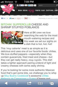 Shrimp and Cheese Stuffed Poblanos