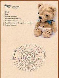 Crochet ideas that you'll love Crochet Applique Patterns Free, Amigurumi Patterns, Crochet Doll Clothes, Crochet Dolls, Crochet Teddy, Crochet Baby, Amigurumi Elephant, Handmade Soft Toys, Crochet For Beginners Blanket