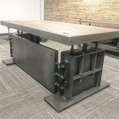 Best Industrial Desk Designs For Your Home Office Industrial Design Furniture, Industrial Desk, Rustic Furniture, Furniture Design, Luxury Furniture, Industrial Style, Furniture Ideas, Steel Furniture, Handmade Furniture