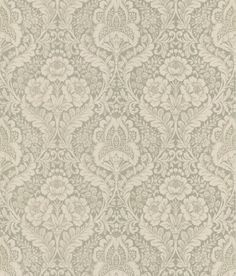 Medici Damask Wallpaper in Beige by Brewster Home Fashions