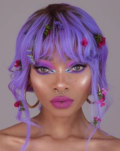40 top best of the best nyane lebajoa hair and makeup loooks we absolutely love from bold wigs in different colors to stunning makeup looks. Pink Makeup, Cute Makeup, Hair Makeup, Pastel Makeup, Makeup Kit, Aesthetic Hair, Aesthetic Makeup, Sombra Neon, Photographie Portrait Inspiration