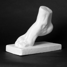 Drawing Plaster Cast Foot - Natural Pigments