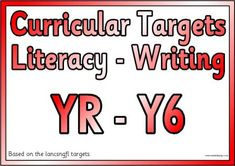 Free and Teaching Resources - Printable Literacy Targets I can statements