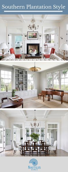 Old Grove - Nautilus Homes Secret Doors, Coffered Ceilings, Plantation Homes, Waterfront Homes, Custom Cabinetry, Nautilus, Home Photo, Home Projects, Custom Homes