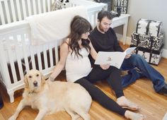 Adorably Unique Maternity Photo Shoot Inspiration- including the family pet