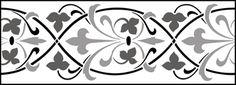 Gothic and Medieval Border No 24 stencils, stensils and stencles Damask Stencil, Stencil Patterns, Stencil Diy, Stencil Designs, Embroidery Patterns, Quilt Patterns, Arabesque, Stencils Online, Photoshop Images