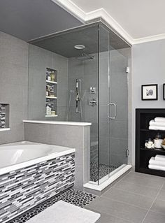 Main bethroom ideas. Extend shower and leave existing layout?