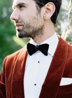 Red suede tux: Photography: O'Malley Photographers - http://omalleyphotographers.com/