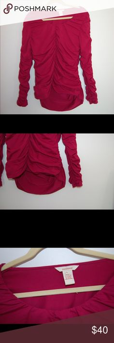 Sundance Catalog Purple Maroon Long Sleeve Top Shoulder to Hem: 25 inches in front and 29 in back. Underarm to underarm: 16.5 inches. Underarm to the end of the sleeve: 18 inches (scrunched). Excellent Condition. Sundance Tops Tees - Long Sleeve