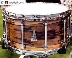 We just had to repost this killer Brady snare drum photo. Though Brady closed their business last year due to their founder Chris Brady's health complications this company really put Australian drum making on the map. The good news is we are hearing rumblings that Mr. Brady's health is improving and he may be well enough to release some more drums in 2017. We all look forward to that day arriving soon.  #Repost @bradydrums with @repostapp.  A mighty 14 x 8 BRADY Jarrah Ply / Blackheart…