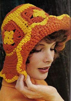 a long time ago when i was a teenager my mom made me this hat in different colors and i loved it Vintage Floppy Hat-- free crochet pattern. Visualize it in updated colors.