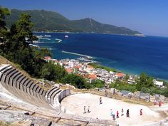 Ancient Theaters in Greece Thasos Island (Macedonia) Ancient Greek Theatre, Places To Travel, Places To Visit, Thasos, Greece Islands, Great Memories, Greece Travel, The Good Place, Beautiful Places