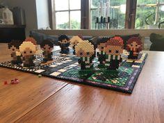 Hogwarts ludo af Hama-perler med figurer