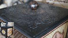 Decoupage Tutorial  Forged Metal Box - Εφέ Σφυρήλατου σε Κουτί - Diy Ste...