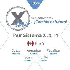 ¡Atención Perú! una noticia increíble, el Tour Sistema X continua por todo el País, estate atento a más novedades y las próximas fechas en países hermanos.... #FuXion