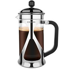 French Press Coffee Maker Cosori 8 Cup 34 Oz 1 Liter Tea Press with 304 Grade Stainless Steel Heat Resistant Borosilicate Glass and 4 Level Filtration System *** Check this awesome product by going to the link at the image.Note:It is affiliate link to Amazon.