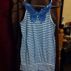 Top Cute striped top gently used No Boundaries Tops Tank Tops